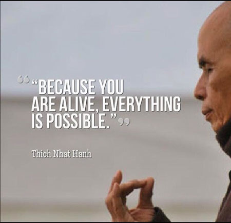 Everything is possible Thich Nhat Hanh quotes
