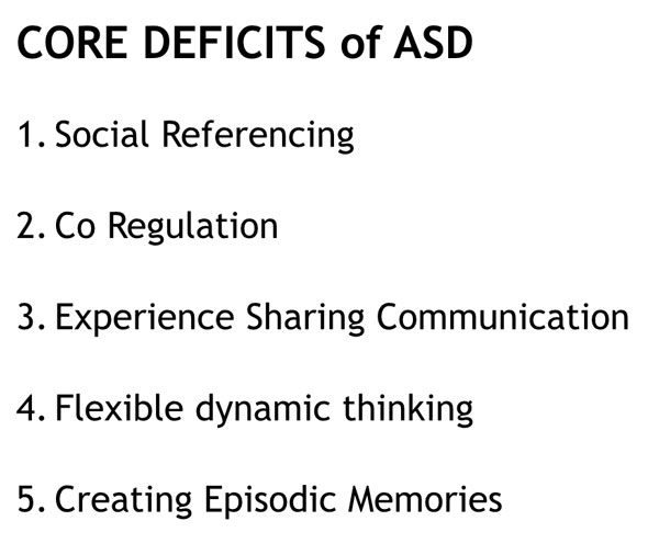 core deficits of autism spectrum disorder