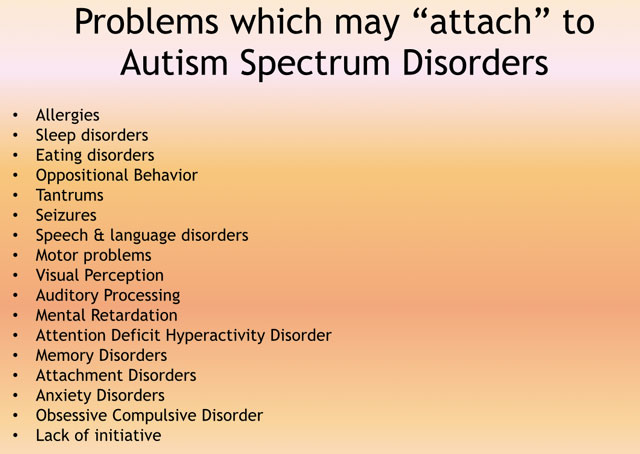 medical conditions co occurring  with autism