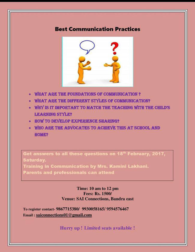 autism communication training in mumbai