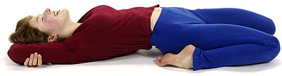 yoga suptavajrasana pose