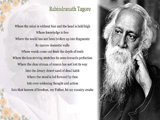 freedom poetry of rabindranath tagore